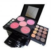 Markwins Beauty Compact Makeup Set 32 Eye Shadows + 18 Lip Gloss + Compact Powder + Brushes