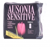 Ausonia Sensitive Normal Serviettes Hygiéniques 14 Unités