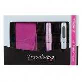 Travalo Pink and Silver 2x 5ml Coffret 3 Produits