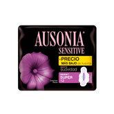 Ausonia Sensitive Compresas Con Alas Super 12Unidades