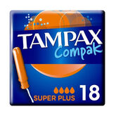 Tampax Compak Super Plus 18 Unidades