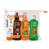 Babaria Sol Bálsamo 100 ml Neceser Viaje Facial Y Aceite Set 4 Piezas 2020