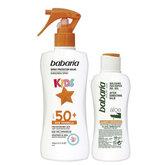 Babaria Solar Infantil Leche Protectora Resistente Al Agua Spf50 Spray 200ml Set 2 Piezas 2020
