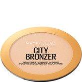 Maybelline City Bronzer Polvos Bronceadores Mate Tono 100 Light Cool Pieles Claras - 8g