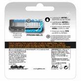 Gillette Fusion ProShield Chill Recambios 3 Unidades