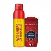 Old Spice Desodorante Captain Stick 50ml Y Desodorante Captain Spray 150ml