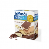 Bimanán Sustitutive Snack Chocolate Con Leche Relleno Vainilla 120g