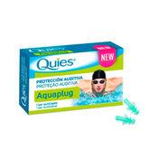 Quies Tapon De Oído Silicona Aquaplug Adulto 1par