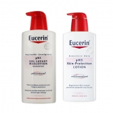 Eucerin Set Gel Baño Y Loción Ph5 Skin Protection 2x400ml