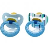 Nuk Classic Chupete T1 Fashion Azul Látex 0-6 Meses 2 Unidades