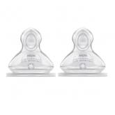 Nuk First Choice Tetina Silicona Anticólico Orificio L 6-18 Meses 2 Unidades