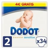 Dodot Protection Plus Sensitive T-2 34 Unidades