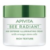 Apivita Bee Radiant Crema iluminadora Defensa Antiedad Textura Rica 50ml
