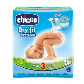 Chicco Dry Fit Couches Taille 3 4-9kg 21 Unités