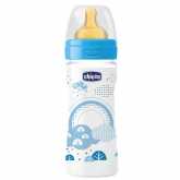 Chicco Well-Being Biberón Caucho PP Flujo Medio Azul 2m+ 250ml