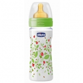 Chicco Well-Being Biberón Látex PP Flujo Medio Verde 2m+ 250ml