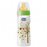 Chicco Well-Being Biberón Látex PP Flujo Rápido Verde 4m+ 330ml