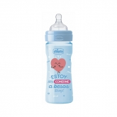 Chicco Well-Being Mr Wonderful Biberón Silicona Azul 2m+ 250ml