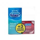 Durex Love Sex Natural Plus 12 Preservativos + 3 Sensitivos