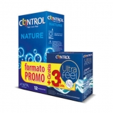Control Pack Préservatifs Nature 12 Unités + Control Ultra Feel 3 Unités