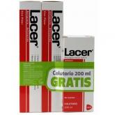 Lacer Duplo Pasta Dentífrica Antiplaca-Anticaries 125ml + Colutorio 200ml