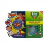 Relec Pulsera Click Clack Superman Antimosquitos Set 3 Piezas