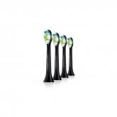 Philips Sonicare Diamondclean Cabezal Black Hx6064/33 4 Unidades