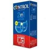 Control Duo Nature 2en1 Preservativo+Gel 6 Unidades